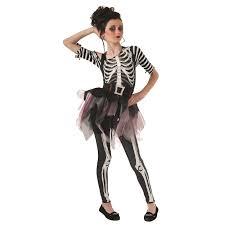 girls skeleton ballerina costume