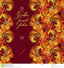 golden orange color golden peacock feathers stock image image of color flowing 9072185
