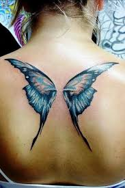 butterfly wings on back design of tattoosdesign of tattoos