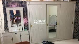king size bed big wardrope cubord for urgent sale qatar living