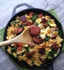 one pot cheesy sausage pasta a cedar spoon