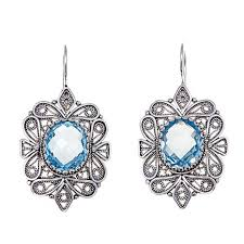 topaz earrings ottoman silver jewelry collection 8 36ctw sky blue topaz filigree