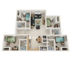 four bedroom floor plans 4 bed 4 bath apartment in columbus ga the lowell apartments