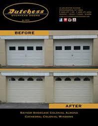 Dutchess Overhead Door Dutchess Overhead Doors Inc Garage Door Before After
