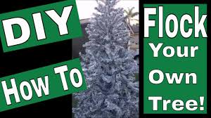 diy how to flock your artificial tree
