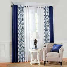 Navy Blue Plaid Curtains Blue And Curtains Teawing Co