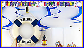 Nautical Party Theme - nautical theme birthday party decorations for adults