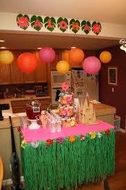 dessert and drink table for hawaiian birthday party made it