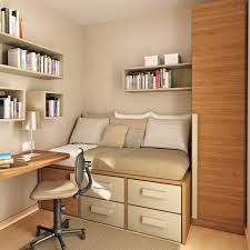 modern minimalist 3d bedroom layout with virtual bookcase and wall