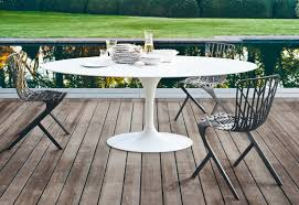 Outdoor Dining Rooms by Saarinen Tulip Outdoor Dining Table By Knoll Stylepark