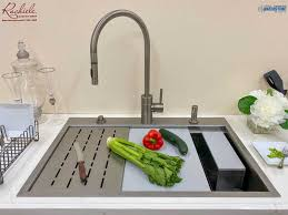 kitchen sink cabinet sponge holder copper and stainless steel drain grids for workstation