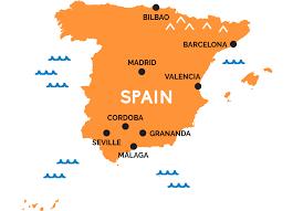 map of spain map of spain railpass