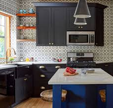 gray kitchen cabinets with black appliances black kitchen appliances and bold additions for every