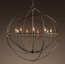 Large Rustic Chandelier The Perfect Orb Chandelier Orb Chandelier Restoration Hardware