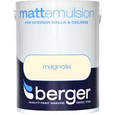 berger matt emulsion magnolia paint 5 litre coloured emulsions