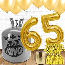 birthday helium balloons 65th birthday gold balloons and helium package partyrama co uk