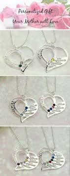 s day birthstone necklace a s heart holds family s forever necklace
