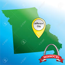Missouri State Map Map Of Missouri State With Gateway Arch Royalty Free Cliparts