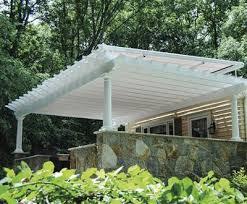 top mounted canopy pergola wood pergolas solid cellular pvc