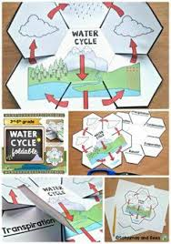 water cycle science interactive notebook foldable ใบงาน