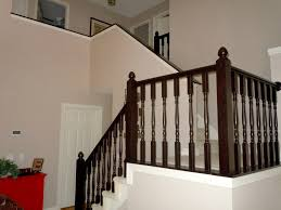 Banisters And Handrails Remodelaholic Diy Stair Banister Makeover Using Gel Stain