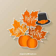 happy thanksgiving sticker vector free
