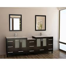 Espresso Double Vanity Design Element Galatian 88 Inch Espresso Double Sink Bathroom
