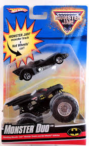 monster jam batman truck monster duo u002789 batmobile u2013 orange track diecast