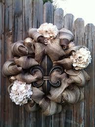 Fleur De Lis Decor Deco Mesh Fleur De Lis Wreath Chocolate Brown By Goblinsandholly
