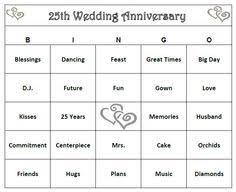wedding words for bingo 50th anniversary party bingo way to celebrate a lifetime