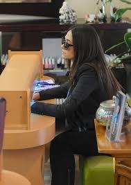 emmy rossum fashion leaving a nail salon in los angeles