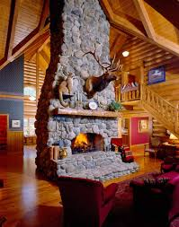 love the elk and cougar mount and stone fireplace man cave ideas