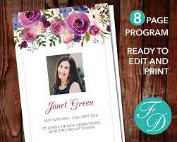 Funeral Programs Printing Best 25 Memorial Service Program Ideas On Pinterest Funeral