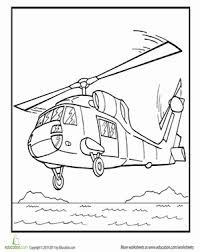 color rescue helicopter worksheet education