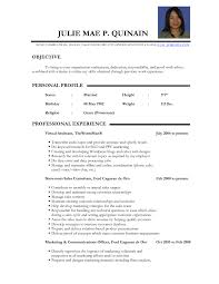 General Resume Objectives Samples by Example Of Resume Objectives Tele S Resume Objective Marketing