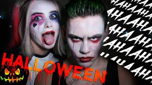 The Joker And Harley Quinn Halloween Costumes Harley Quinn U0026 The Joker Halloween Makeup Challenge W Sniff Eesti