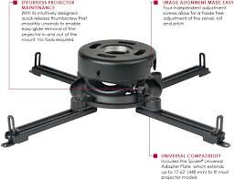 Projector Mount For Drop Ceiling by Peerless Prs Unv S Universal Prs Series Projector Ceiling Mount Up