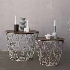 baskets for home decor leo bella ferm living wire basket grey medium