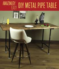 Diy Metal Desk Diy Pipe Leg Table Diy Projects Craft Ideas How To S For Home