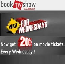 bookmyshow offer bookmyshow wednesday offer 20 off on movie tickets