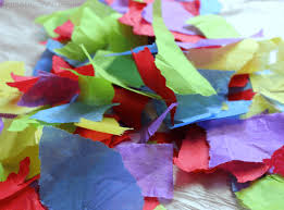 Make Your Own Paper Flowers - tissue paper flower pot springtime crafts for kids from abcs