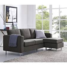 plush sectional sofas dorel living small spaces configurable sectional sofa gray