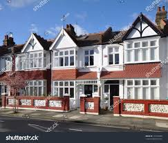 period house small edwardian period terraced houses london stock photo