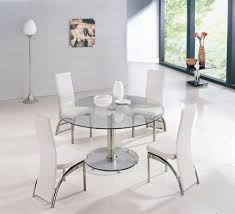 Glass Circular Dining Table Wonderful Glass Circle Dining Table 6 Seater Glass Dining