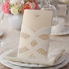 wedding invitations laser cut doris home vertical laser cut wedding invitation with