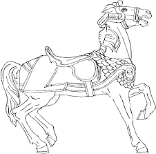 carousel horse coloring cecilymae