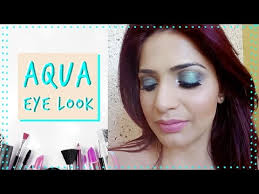 simple makeup tutorial on aqua eyes look eye makeup challenge summer makeup challenge