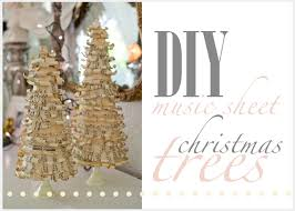 domestic fashionista music sheet covered christmas tree tutorial