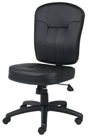 Office Chairs Without Arms Leather Office Chair No Arms Staples