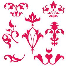 venetian ornaments clipart set free enliven designs